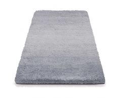 Badematte Ombre silbergrau | Hochflor Badteppiche zum Set kombinierbar | verschiedene Größen von der Duschmatte bis zur Wannenvorlage (70x120cm)