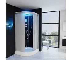 Dampfdusche Regendusche Duschkabine mit LED Massagedüsen Duschhimmel 1EG01 (90x90)