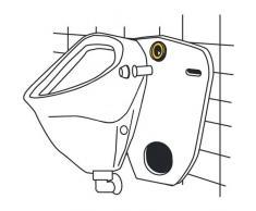 Urinal-Zulauf-Garnitur messing- 1-2 mit Lippendichtung- grau