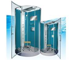 AcquaVapore DTP6037-4103 Dusche Dampfdusche Duschtempel Duschkabine -Th. 100x100, EasyClean Versiegelung der Scheiben:2K Scheiben Versiegelung +99.-EUR
