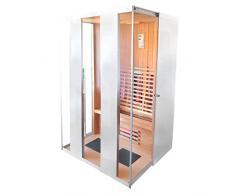 Infrarotkabine Madeira Infrarot Sauna in weiß für 2 Personen Wärmekabine Infrarotsauna