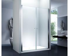 Nischentür Duschtür Duschkabine Dusche Duschwand Seitenwand 6 mm Sicherheitsglas (ESG) (130x195cm)
