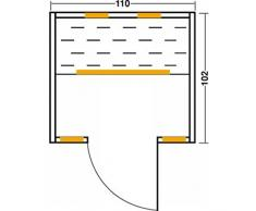 Vitalhome Infrarotkabine Basic 113 Wärmekabine