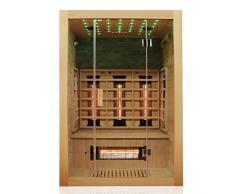 Dewello Infrarotkabine Infrarotsauna MILTON 135cm x 105cm inkl. Vollspektrumstrahler, Bodenstrahler und Zubehör