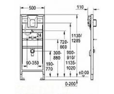 Grohe Urinal, Marken Urinal ohne Deckel, Komplett-Set