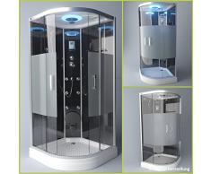 TroniTechnik Duschtempel Duschkabine Dusche Glasdusche Eckdusche Komplettdusche S090XI1HG01 90x90