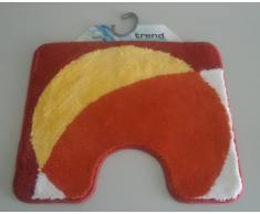 Batex kringel orange Duschvorleger Bad-Vorleger Wc-Vorleger (55X60 mit Ausschnitt)