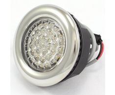 LED-Unterwasserleuchte für Dampfdusche und Badewanne, Edelstahl, Weiß