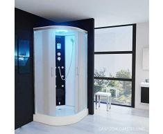 Dampfdusche Regendusche Duschkabine mit LED Massage Belüftung Duschhimmel 1EG02 (90x90)