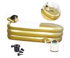 CTEGOOD Faltbare Aufblasbare Dicke Warme Erwachsene Badewanne Minisauna Heimsauna tragbar Faltsauna mit Dampferzeuger