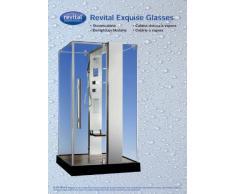 Dampfdusche Dampfbad Revital Exquise Glasses 0812 B schwarz, R-SR-0812-B