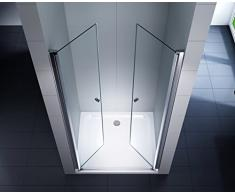Nischentür Duschtür Duschkabine Dusche Duschwand Seitenwand 6 mm Sicherheitsglas (ESG) (105x195cm)