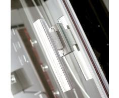 EAGO Dampfdusche DZ966F8 weiß/120x90/rechts