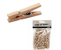 100 pcs 25 mm Mini Clip Hering Wäscheklammer Holz Fotopapier Kleiderroller Pin