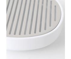 Alessi Birillo Seifenschale aus PMMA, edelstahl glänzend poliert, weiß