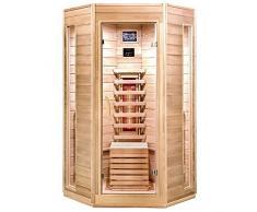 Home Deluxe - Infrarotkabine - Nova - Vollspektrumstrahler - Holz: Hemlocktanne - Maße: 100 x 100 x 200 cm - inkl. vielen Extras und komplettem Zubehör