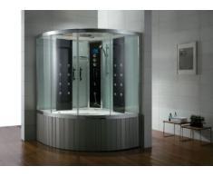 Dampfdusche/Wellnessdusche AQUALINE WS111S6 1500 x 1500 x 2240mm Rückwandfarbe: silber
