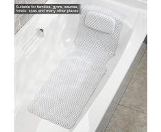 Rutschfeste Badewannenmatte, Massagebad und Duschmatte, Antibakterielle PVC-Ganzkörper Badekurort Matratze Kissen Kissen Weiche Gesteppte Badewannen Matte mit Breathable