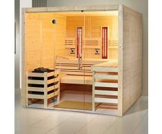 Infraworld Sauna Opal Massiv Größe 210x210 cm in Fichte 391045
