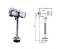 Urinal Druckspüler Pissoir Chrome Aufputz Armatur zulauf flusher valve