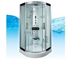 AcquaVapore DTP8058-2003 Dusche Dampfdusche Duschtempel Duschkabine -Th. 100x100, EasyClean Versiegelung der Scheiben:2K Scheiben Versiegelung +89.-EUR