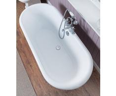 Freistehende Badewanne Wanne Standbadewanne Acryl 1695x740mm weiß
