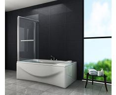 Eck-Duschtrennwand UNIONO 75 (Badewanne)