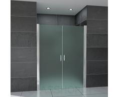 Hochwertige Design Mattglas-Duschabtrennung / Nischendusche mit Lotuseffekt | 70 x 195 cm