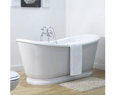 freistehende badewanne g nstige freistehende badewannen bei livingo kaufen. Black Bedroom Furniture Sets. Home Design Ideas