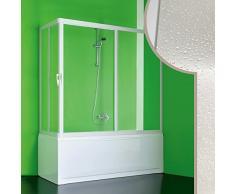 Acryl Badewannenaufsatz 150x70CM Nettuno mit zentraler Öffnung