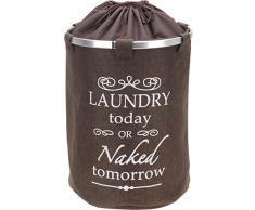 Design Wäschesack stehend - 60 Liter / dunkelbraun - Jute Wäschetonne Wäschesammler Wäschekorb