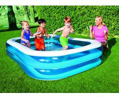 "Bestway 54006 Planschbecken ""Blue Rectangular Family Pool"", 262 x 175 x 51cm"