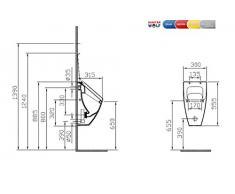 VitrA Pure Style Concept 200 Urinal mit Deckel weiß Zulauf v. hinten