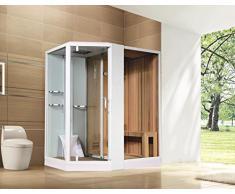 Duschkabine | Dampfdusche | Sauna 180 x 130 cm, Einbauvariante:Linkseinbau
