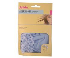 Solida Duschhaube mit Spitze, bleu, 3er Pack (3 x 1 Stück)