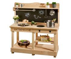 SUN Matschküche / Outdoor-Küche aus Holz - Kinderküche aus Holz - Spielküche für draussen ...