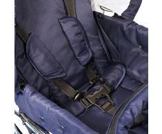 Eichhorn 417RFS-K041-AIR-FTC Kombikinderwagen mit Lederriemengestell mit Schiebehöhenverstellung mit Fester Tragetasche LuxVariante, Luftrad, marineblau