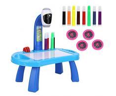VBESTLIFE Projektor Lernen/Zeichentisch,Zeichnen Lernen, Spieltisch Art Maltisch Projektor Zeichnen für Geschenk für bildungs/Kinder/Spielzeug.(Blau)