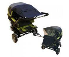 Sonnensegel UV für Zwillingskinderwagen marine