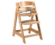 roba Treppenhochstuhl Sit Up Click, mitwachsender Hochstuhl vom Babyhochstuhl bis zum Jugendstuhl, innovativer Klickverschluss, Holz, naturfarben
