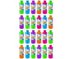 Quantio Seifenblasenflüssigkeit inkl. Seifenblasenstab - mit Schraubverschluss, 0,7 Liter Nachfüllflasche - Verschiedene Mengen wählbar, Stückzahl:24 Stück