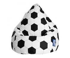 lifestyle4living Sitzsack für Kinder, Fussball Motiv, Baumwoll Bezug   Bequemer Sitzsackfussball 100% Öko-Tex Zertifiziert