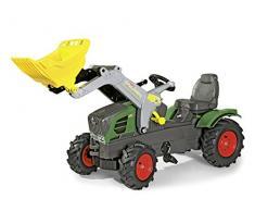 Rolly Toys Fendt Vario 211 Trettrektor mit Lader (rollyFarmtrac Traktor; Luftbereifung; Frontlader, Schaufellader; Kinder ab 3 Jahre) 611089