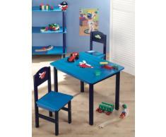 Zeller 13472 Kinder-Sitzgarnitur Boys, 3-teilig, MDF / Tisch: 60 x 48 x 45, Stuhl: 28 x 26 x 54
