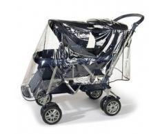 REER Regenschutz für Geschwisterwagen Wetterschutz, farblos