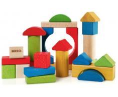 BRIO 30114 - Bunte Holzbausteine, 25 Teile