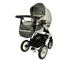 Springer 3 in 1 Kombi Kinderwagen Baby Erstausstattung Sportwagen Kombikinderwagen Set CityPlus (Monaco)