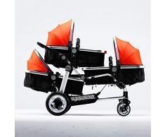 Shisky Sitzbuggys, Kinderwagen,Drillinge Kinderwagen Baby Wagen High-Ansicht Kinderwagen Kinderwagen