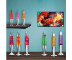 MIA Light Lava Lampe 347mm/ 1x15W/ Glitter/ Gelb/ Leuchte Lavaleuchte Magma Deko Tisch