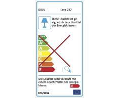 DBLV ® - Große Lavalampe Lavaleuchte GELB GRÜN - inkl. Leuchtmittel